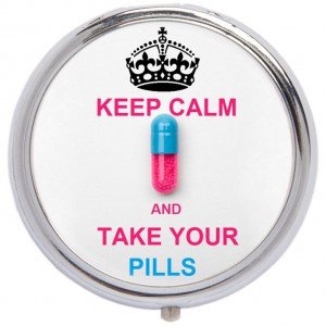 Таблетница Keep Calm and take your pills