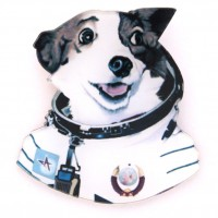 Брошь Dog cosmonaut